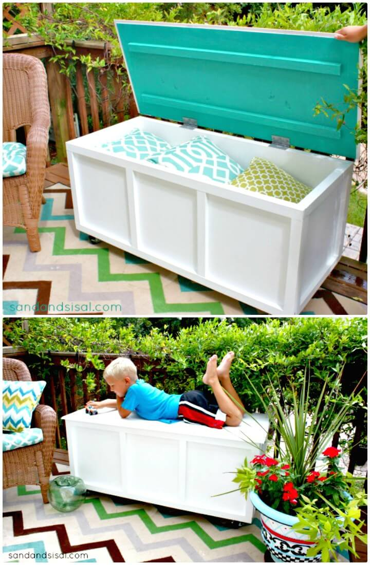 Cómo construir un banco de caja de almacenamiento de jardín - Ideas de muebles de jardín de bricolaje
