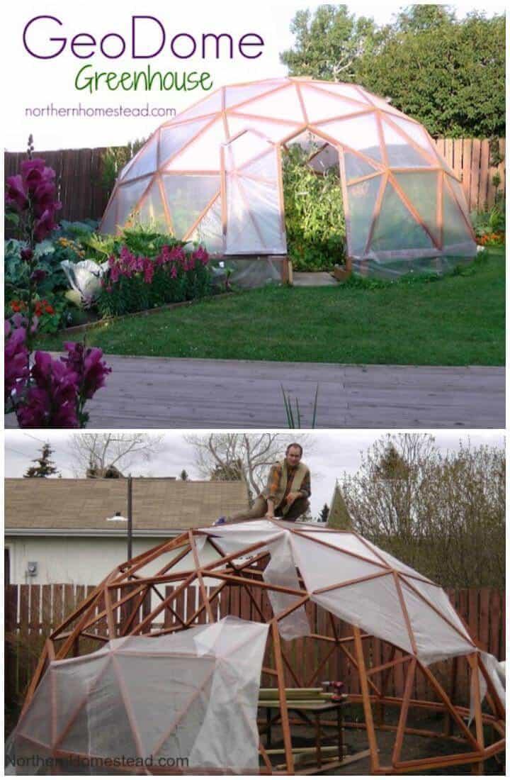 Invernadero Geo Dome casero