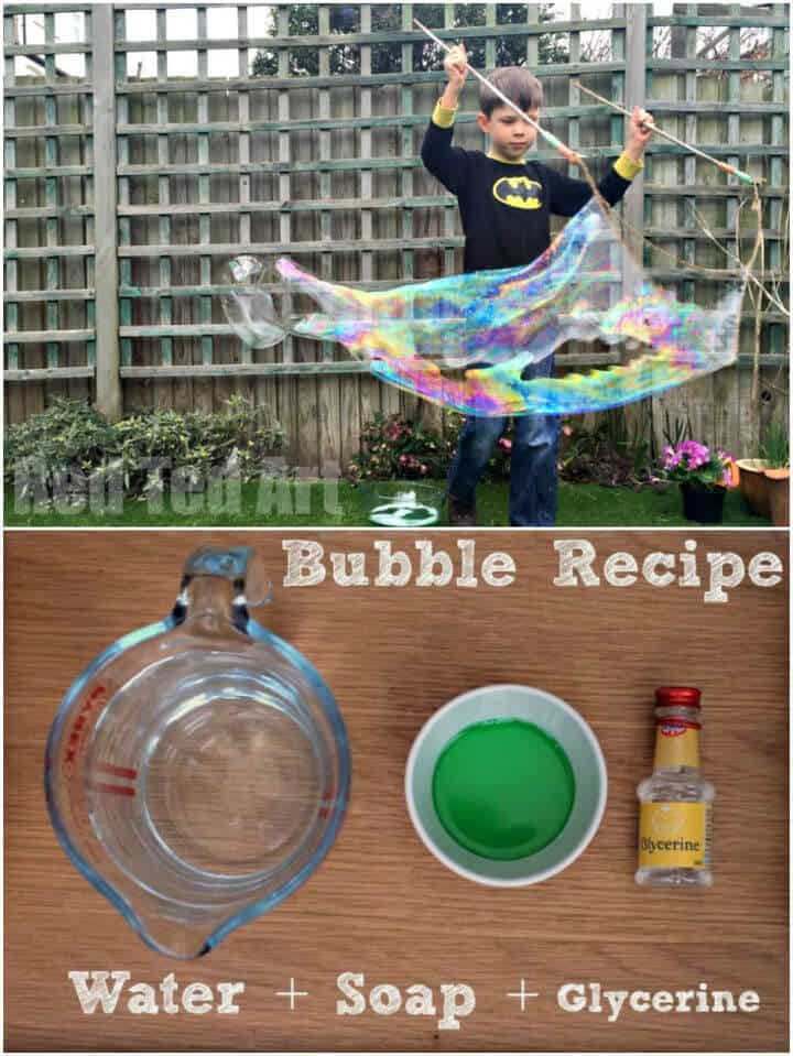 Varitas de burbujas gigantes de bricolaje