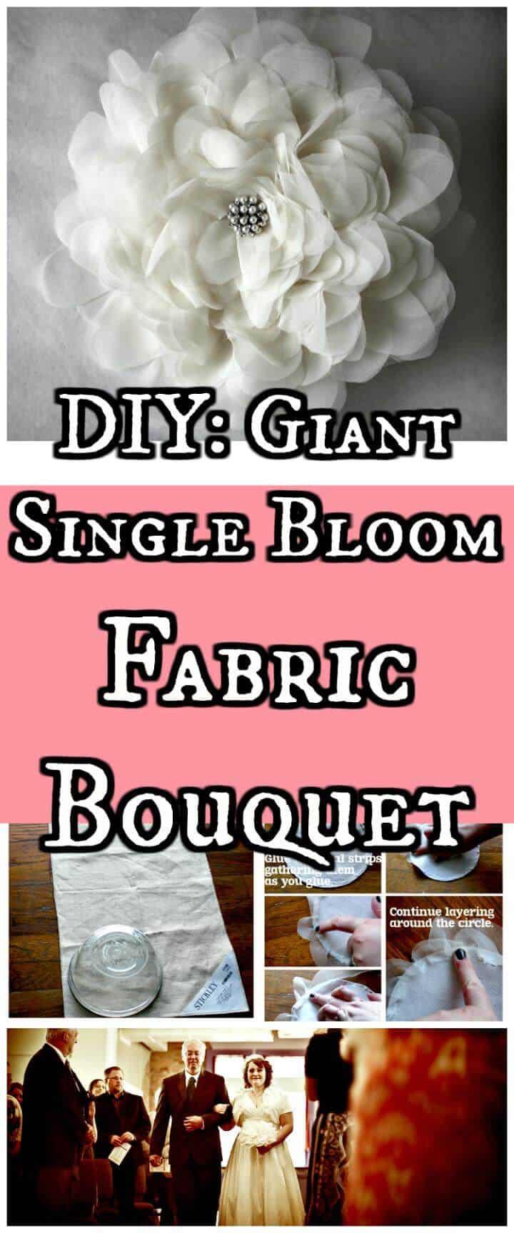 ramo gigante de tela de una sola flor