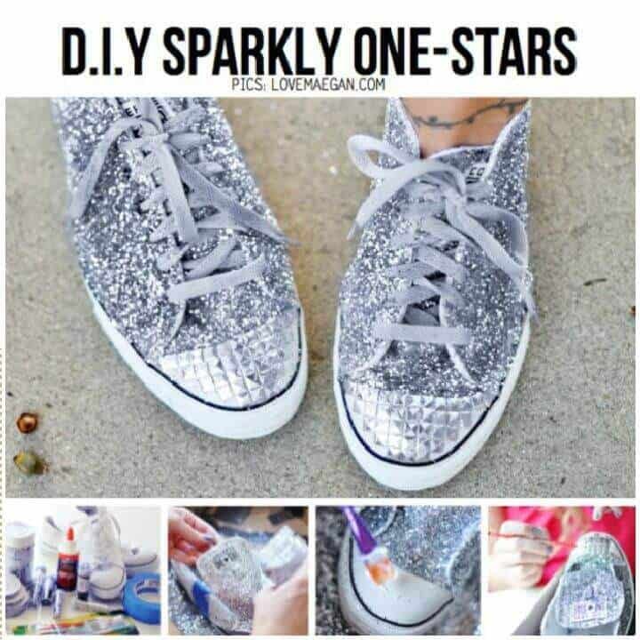 Zapatillas de bricolaje con brillo