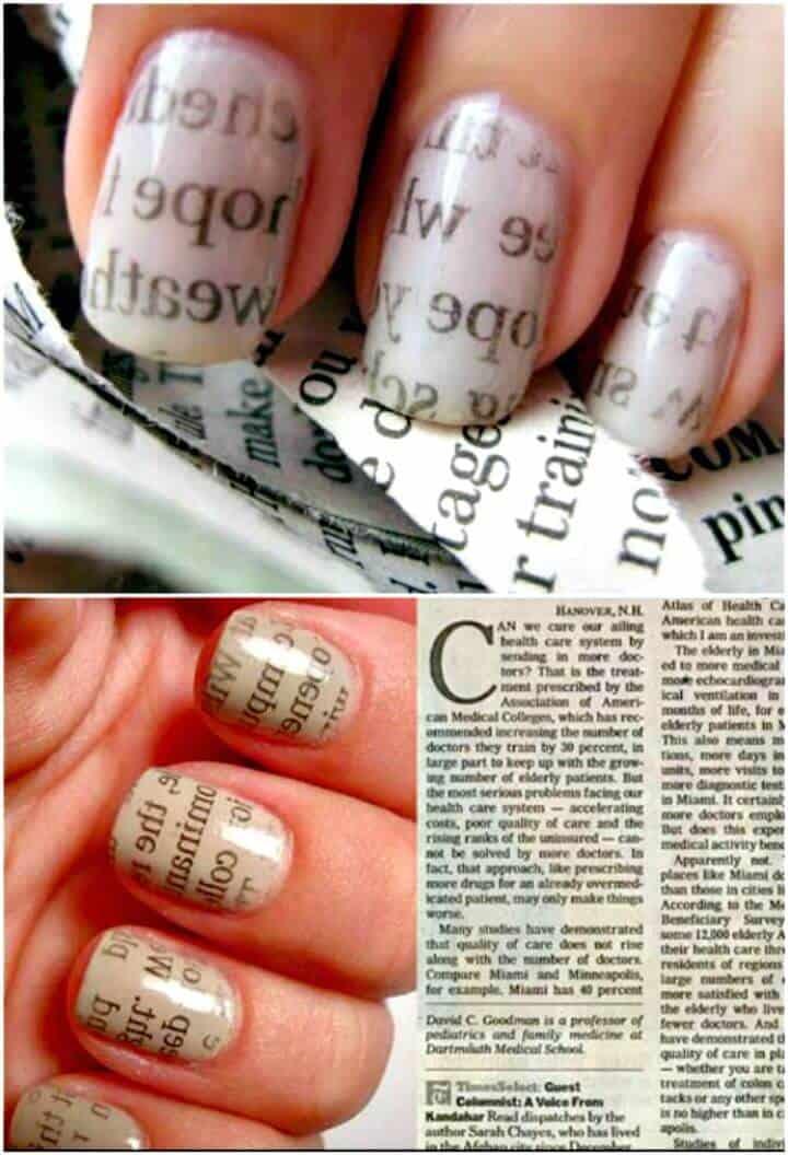 Magníficas uñas de página de revista de bricolaje - Tutorial gratuito