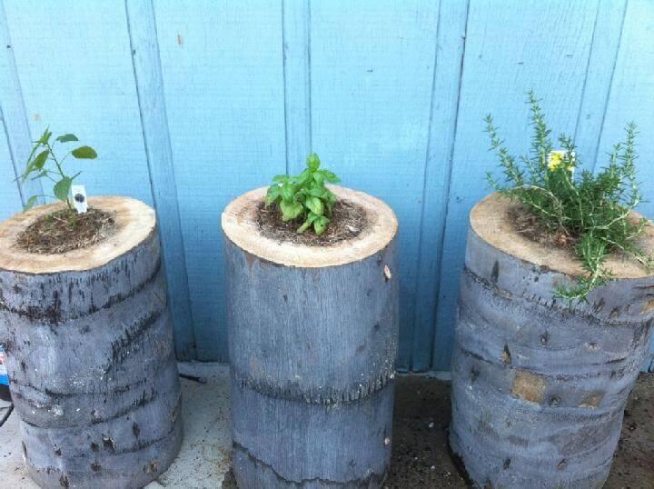 Jardineras de tocones magníficos de bricolaje