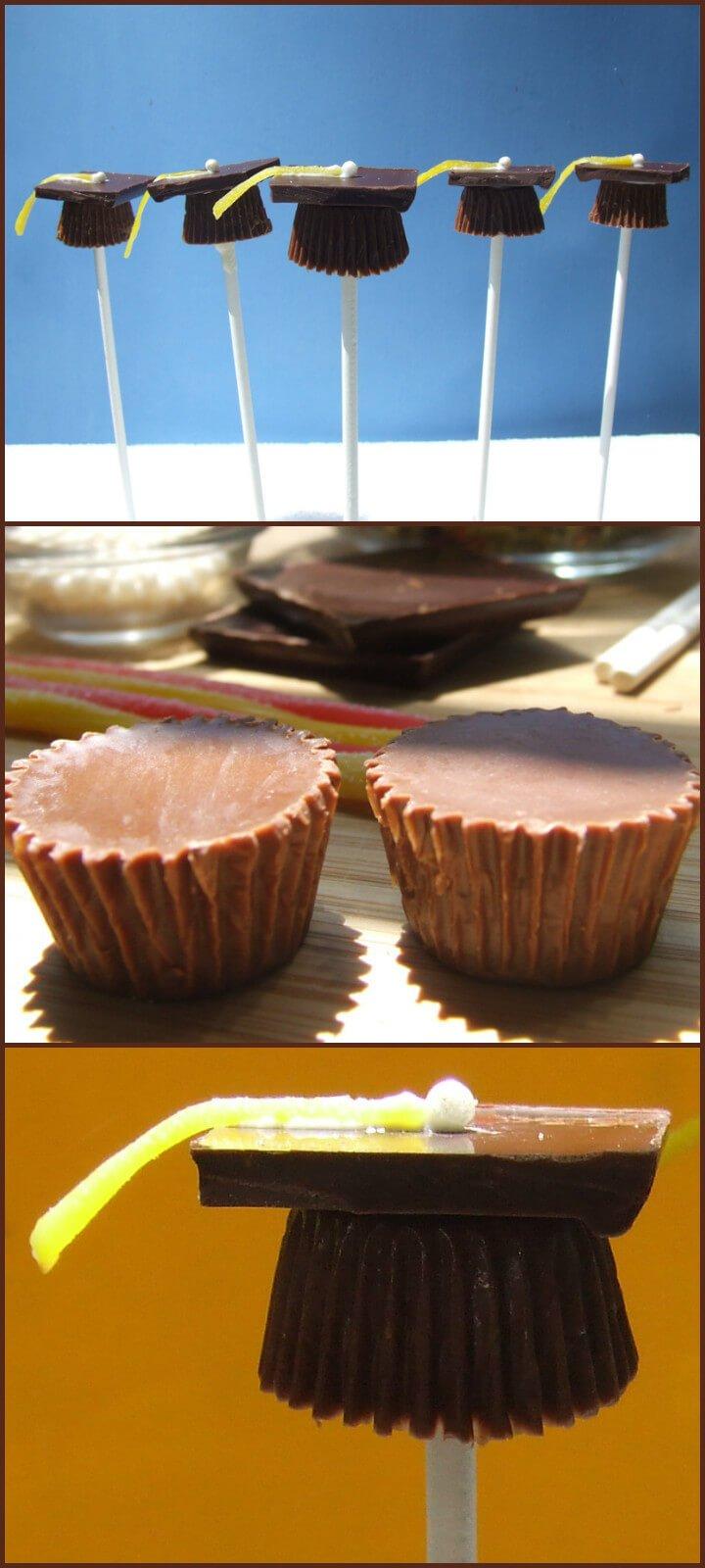 Tapas de caramelo de postre de fiesta de graduación de bricolaje