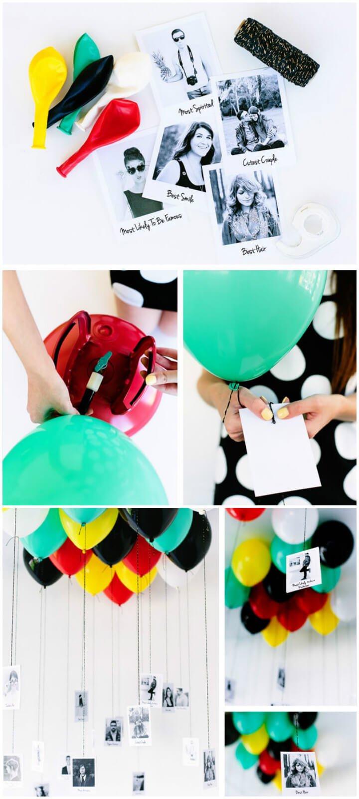 superlativos de globos de fiesta de graduación