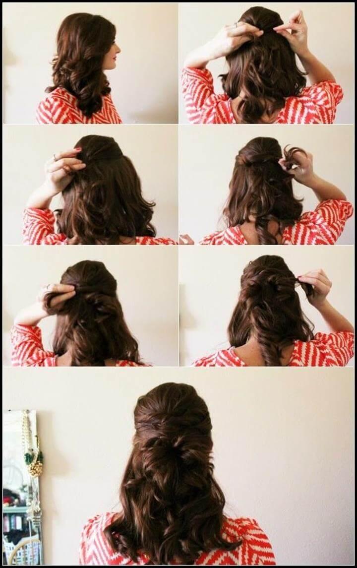 lindo peinado cruzado medio arriba