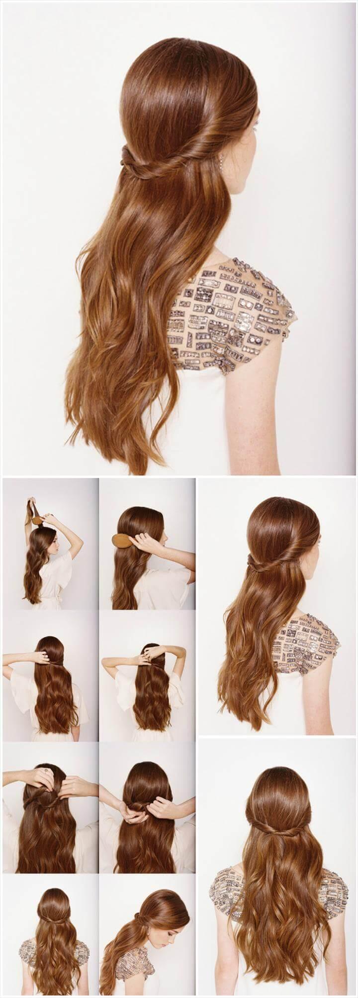 lindo peinado de novia mitad arriba y mitad abajo