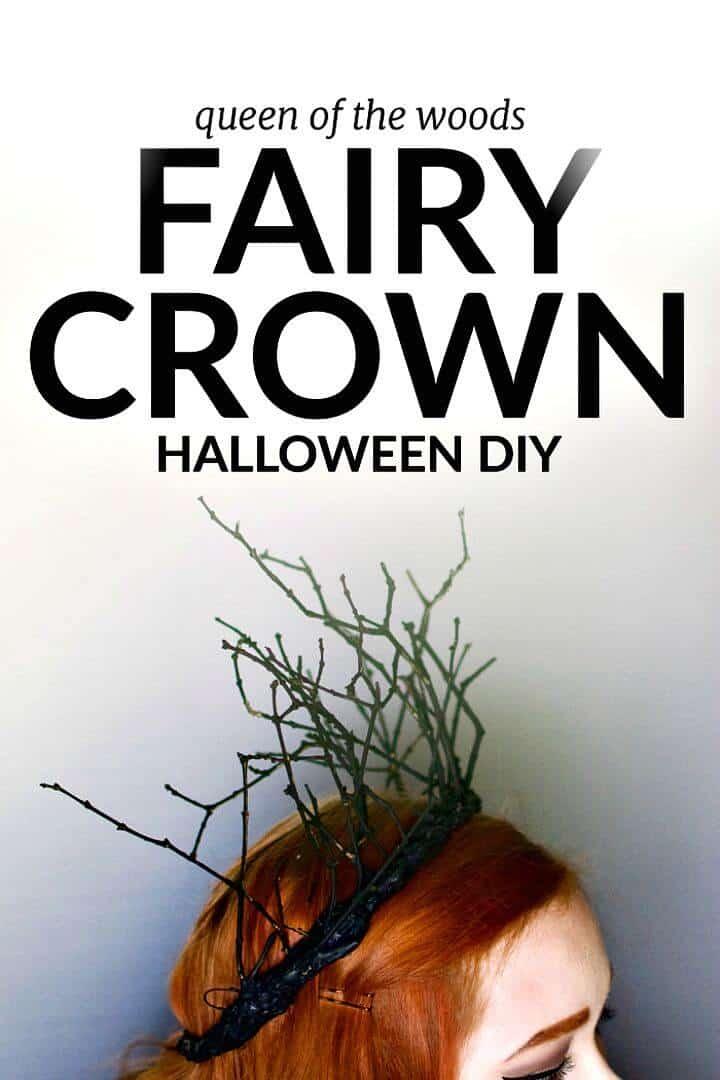 Corona de hadas de Halloween DIY simple