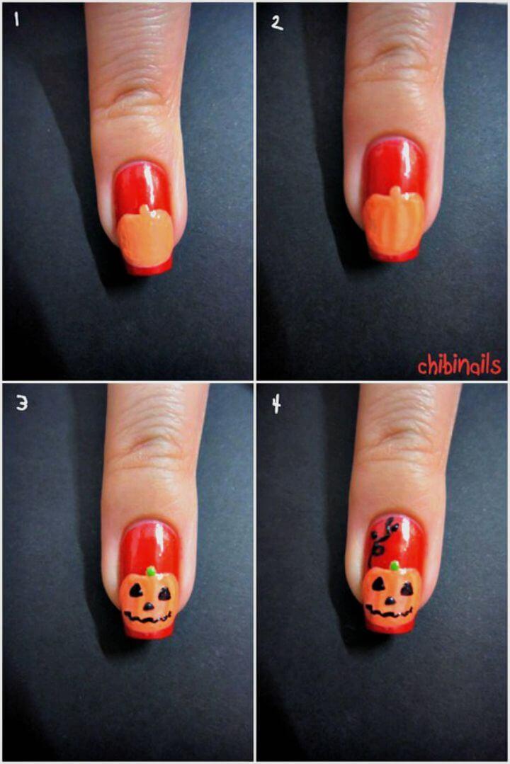 Tutorial de bricolaje de uñas de Halloween