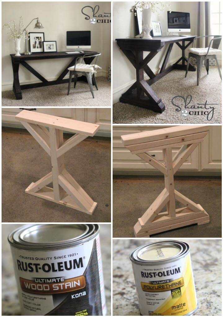 escritorio de granja hecho a mano