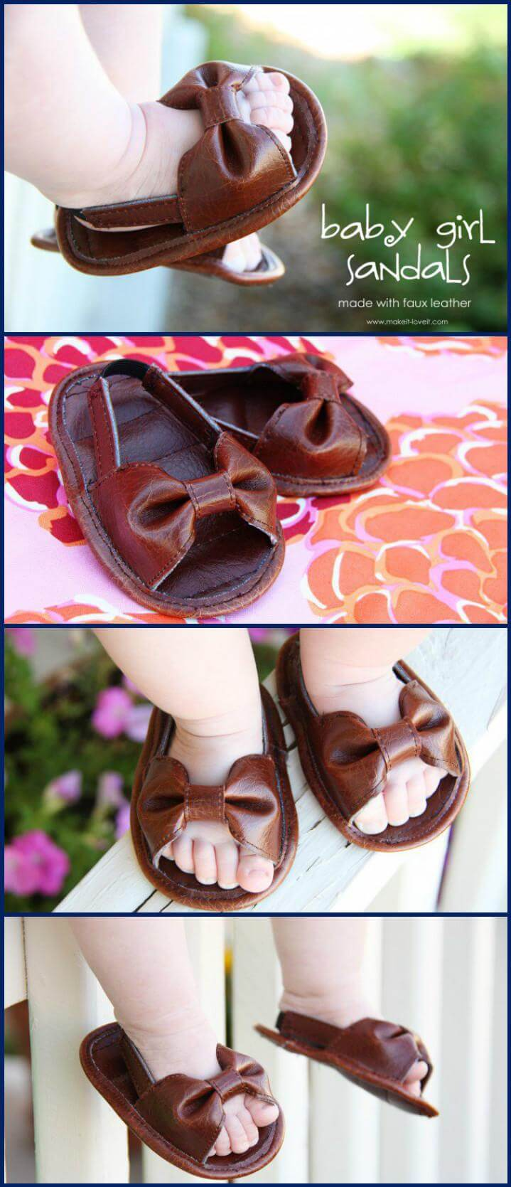 lindas sandalias de bebé hechas a mano