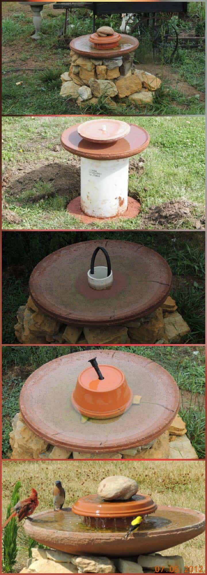 Comedero para pájaros y agua autoinstalable de bricolaje