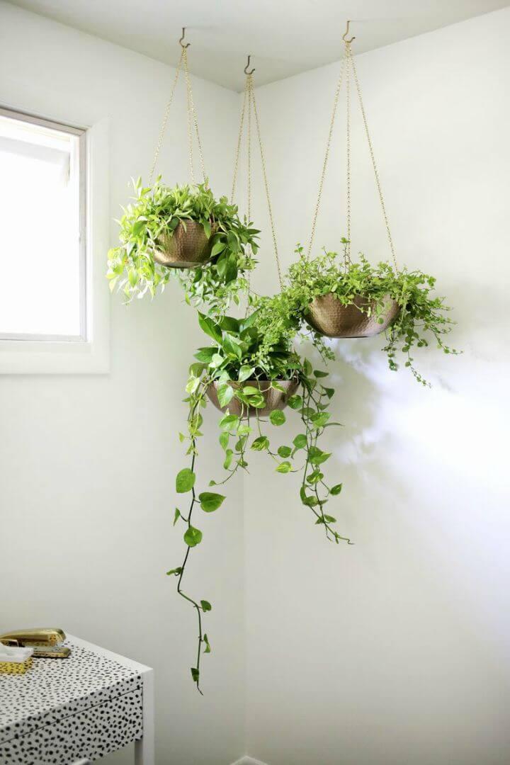 Adorable tutorial de jardinera colgante de bricolaje