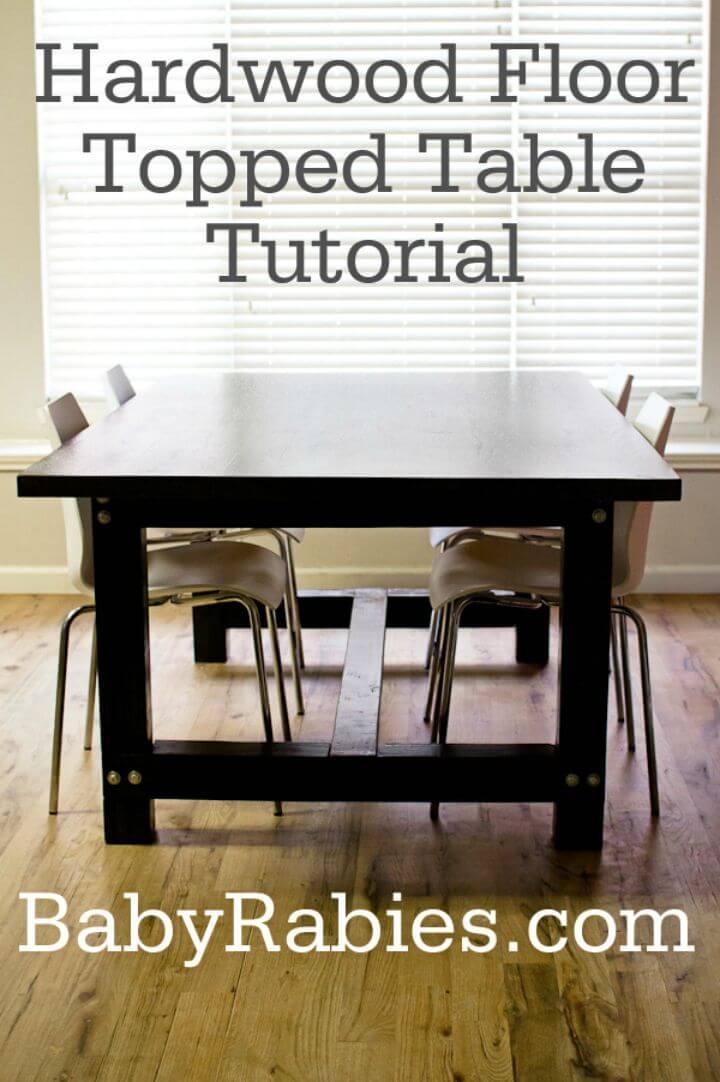 Tutorial de mesa con piso de madera dura de bricolaje