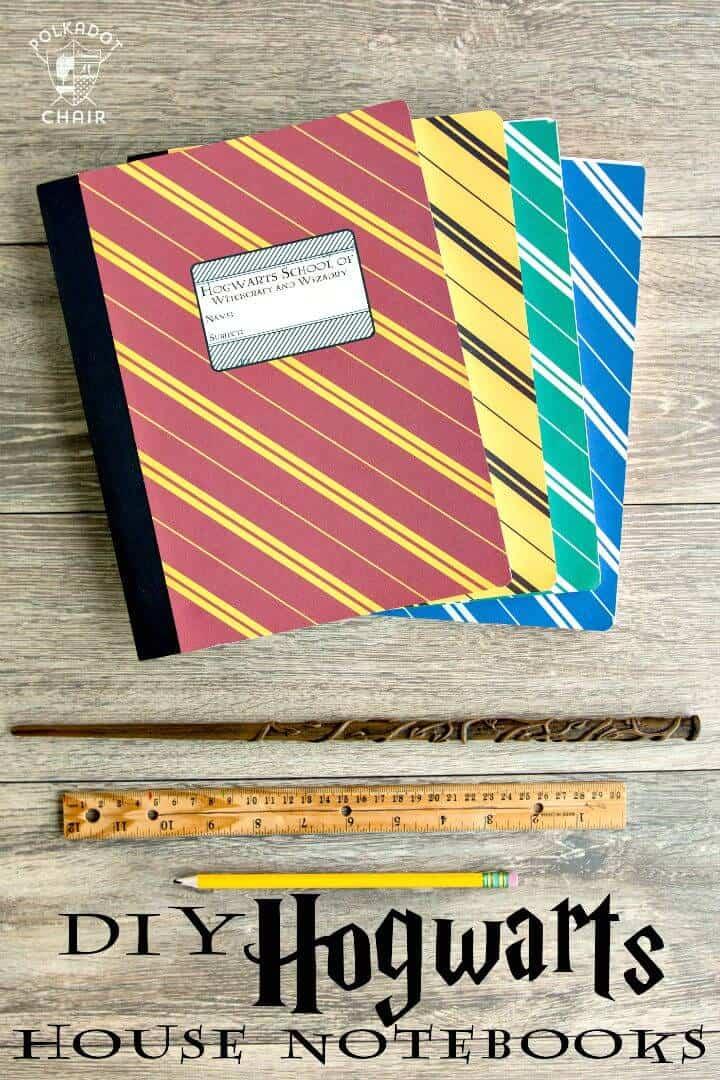 Cubierta de cuadernos DIY de Harry Potter Hogwarts