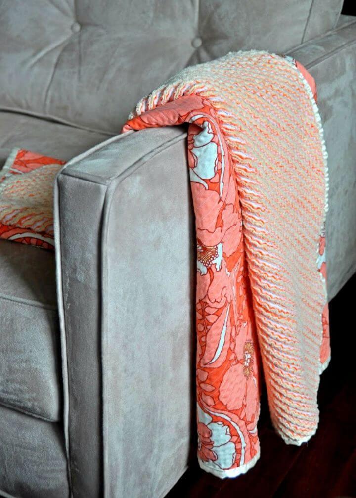 Manta de bebé de chenilla con corte reliquia de bricolaje