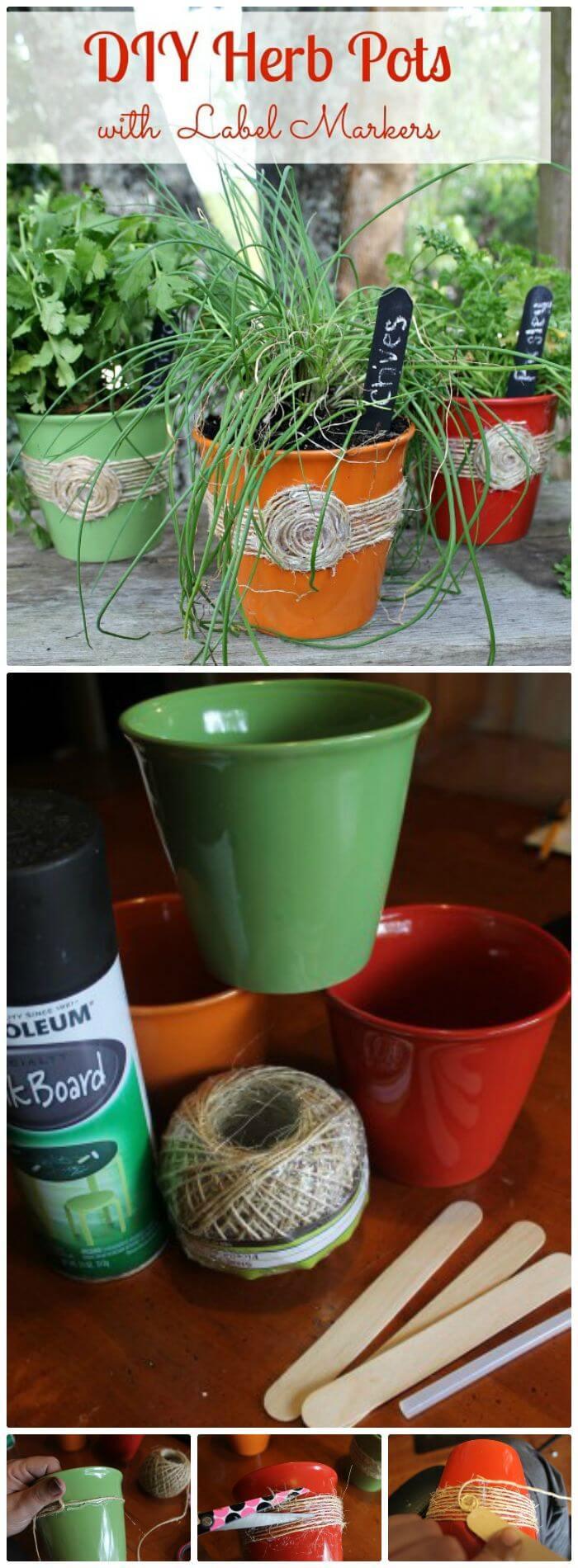 Macetas de hierbas de bricolaje A Dollar Store Craft