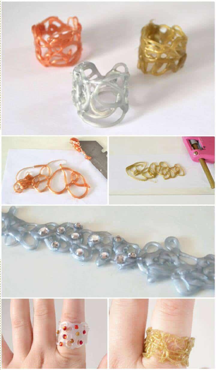 Los anillos de pegamento caliente de bricolaje impresionarán y deleitarán