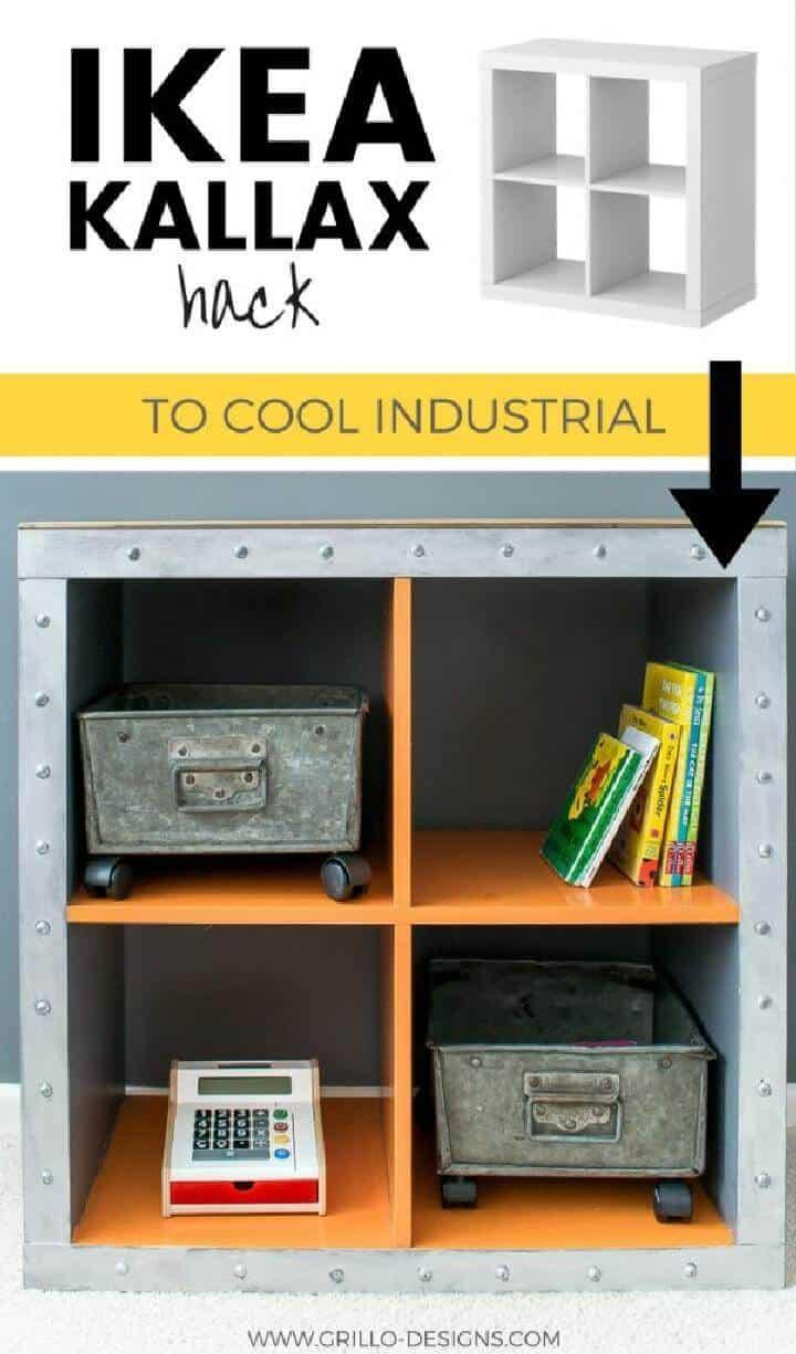 DIY IKEA Expedit Cube a unidad de almacenamiento industrial