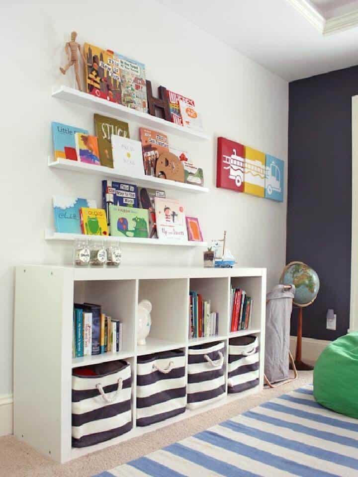 Cubos de almacenamiento de sala de juegos para niños DIY IKEA Expedit