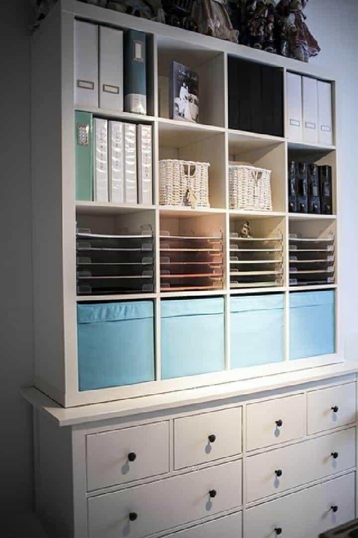 Unidad de almacenamiento para manualidades DIY IKEA Kallax y Hemnes