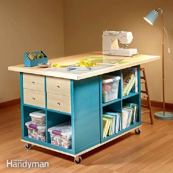 Estantes de bricolaje IKEA Almacenamiento de sala de manualidades