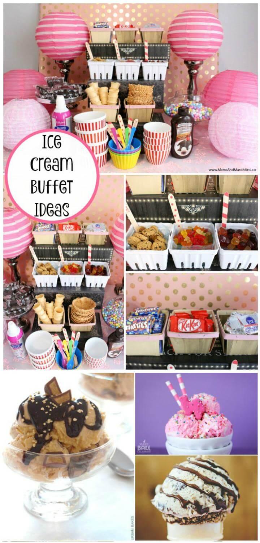 Ideas de buffet de fiesta de helado de bricolaje