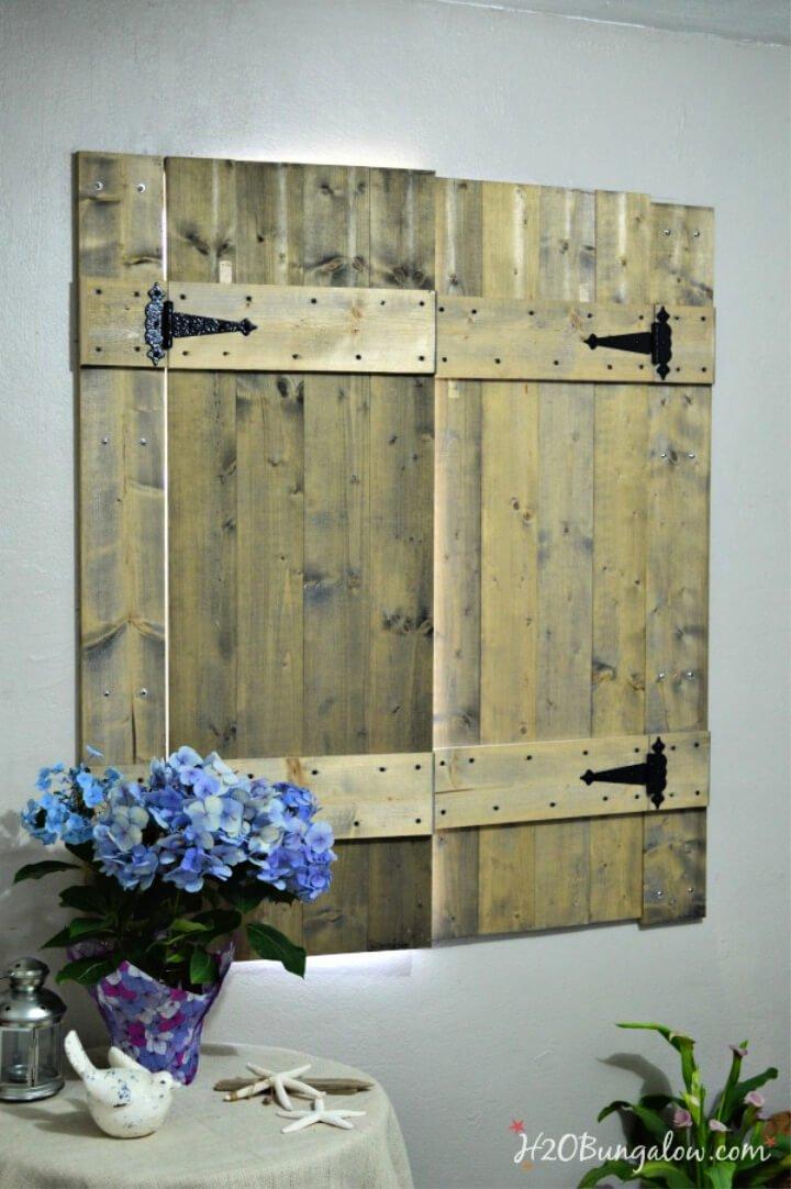 Persianas de madera interiores de bricolaje