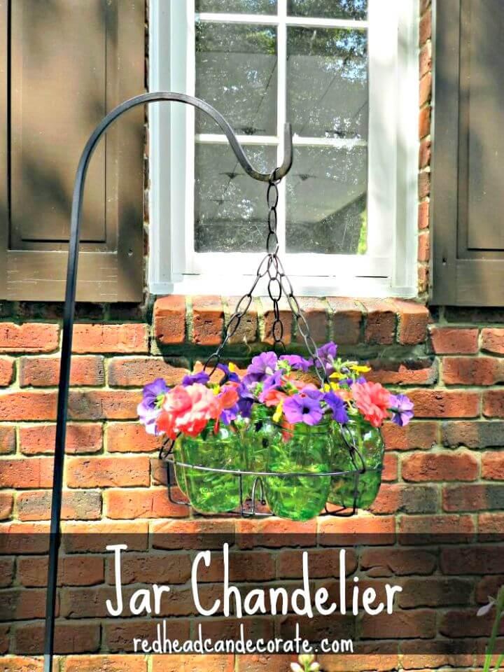 Araña de jardín DIY Mason Jar