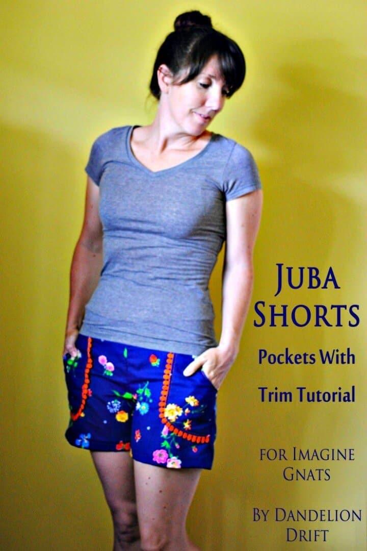 DIY Juba Shorts bolsillos con ribete