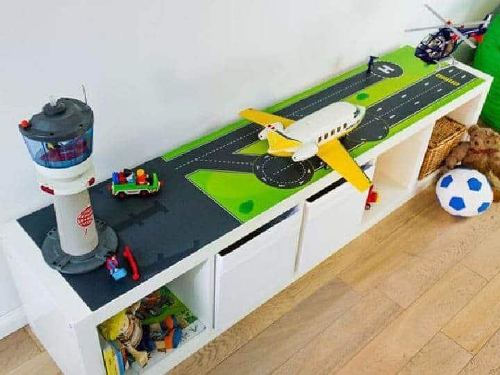 DIY Kallax Airport para la habitación de los niños