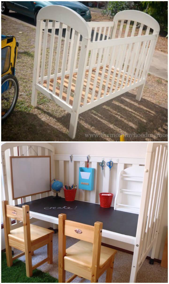bricolaje-niños-pizarra-escritorio-de-una-cuna