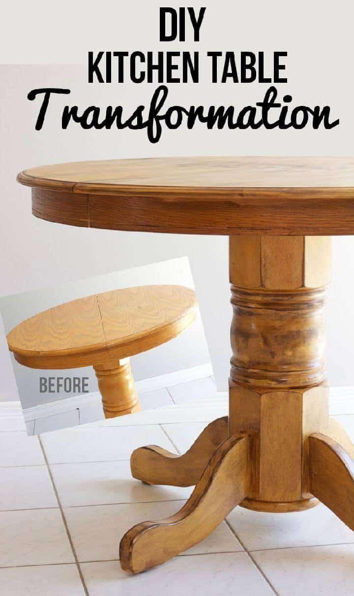 Cambio de imagen de la mesa de cocina de bricolaje