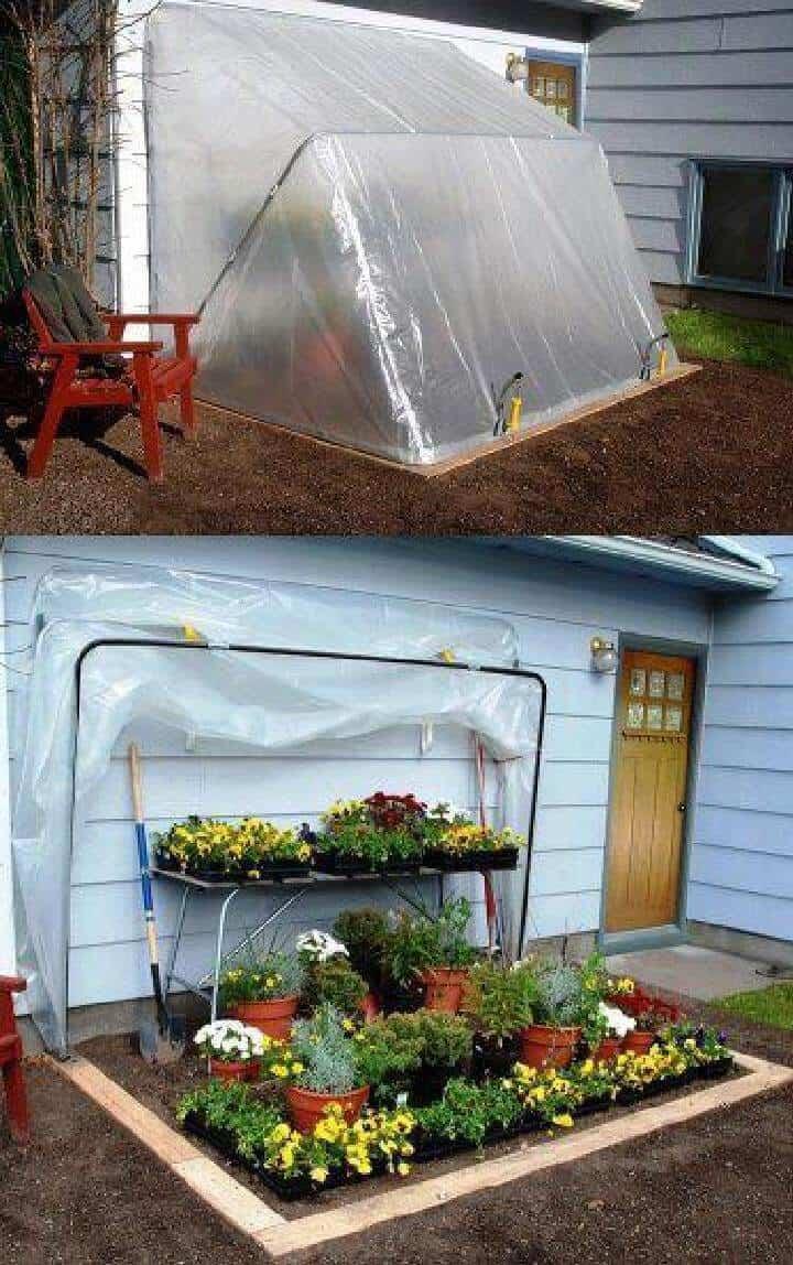 Invernadero plegable de bajo costo pero excelente para bricolaje