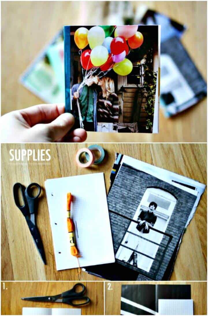 Fácil tutorial de cuaderno de revista DIY