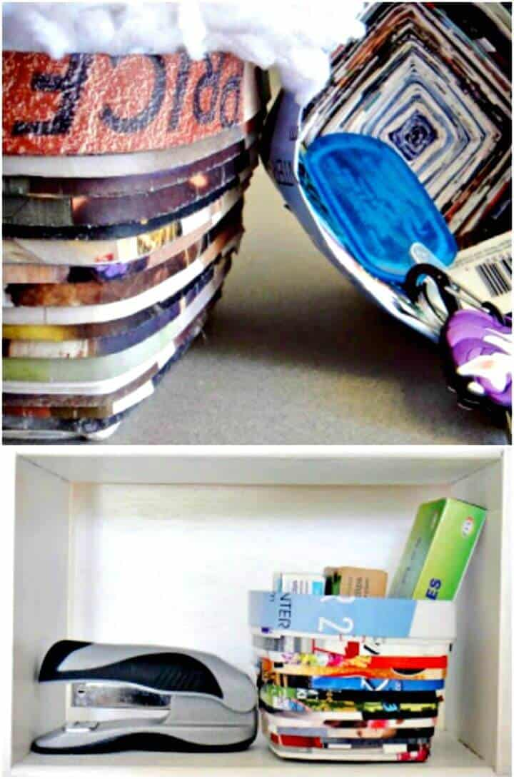 Fácil tutorial de cesta de almacenamiento de revistas de bricolaje