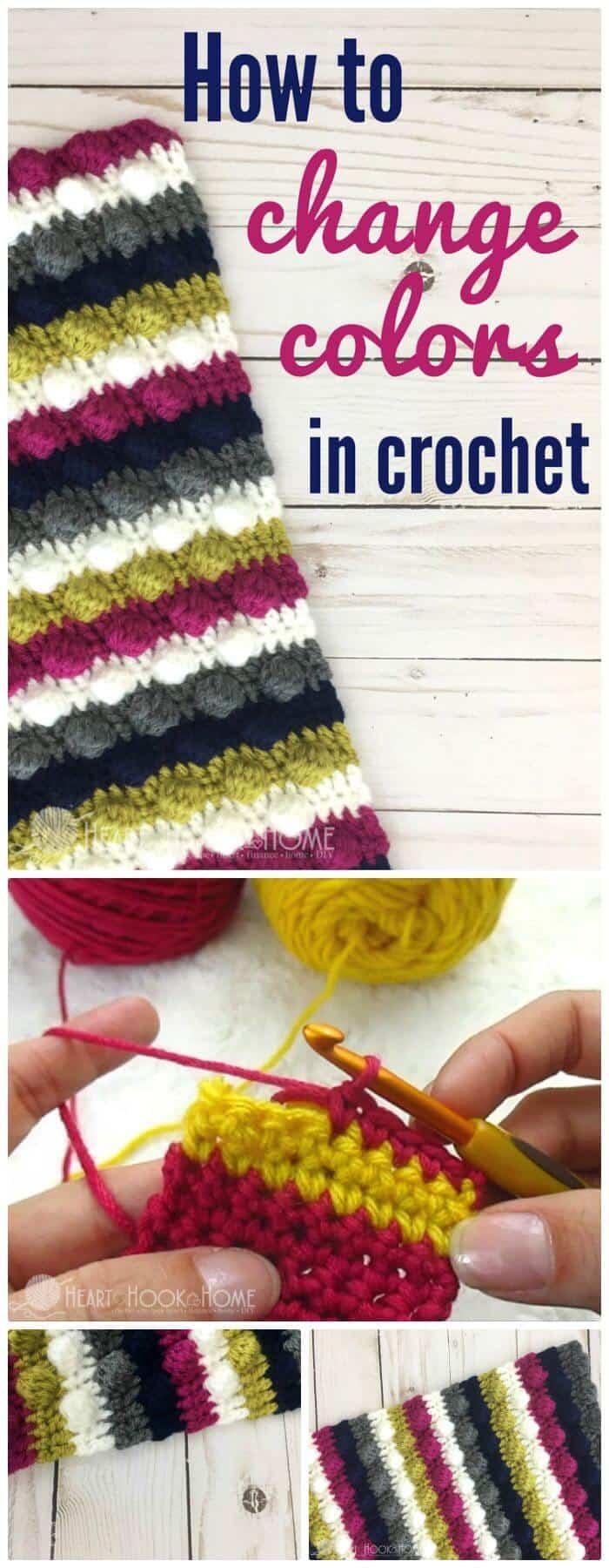 DIY Make A Change Colors in Crochet, ¡instrucciones sencillas para crochet c2c!