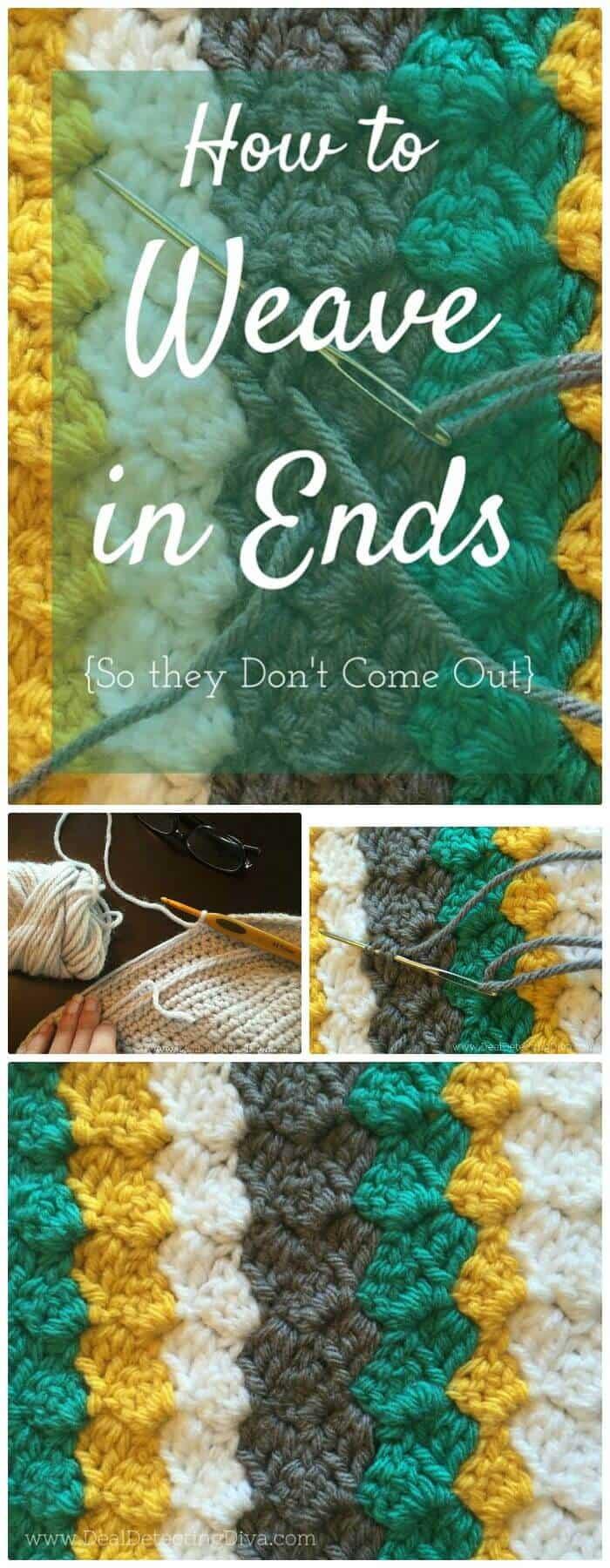 Haz tu propio tejido de bricolaje en extremos de hilo, ¡aprende crochet de esquina a esquina!