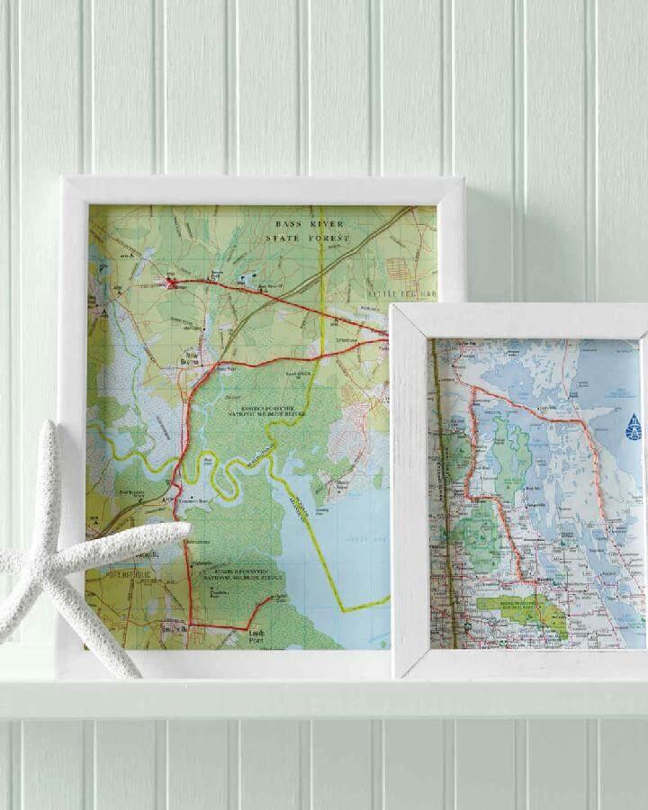 Marcos de trabajo de arte de mapa de bricolaje
