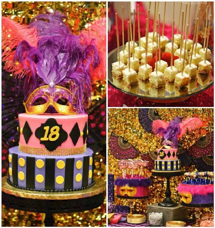 Tema de la fiesta de cumpleaños de la mascarada de bricolaje