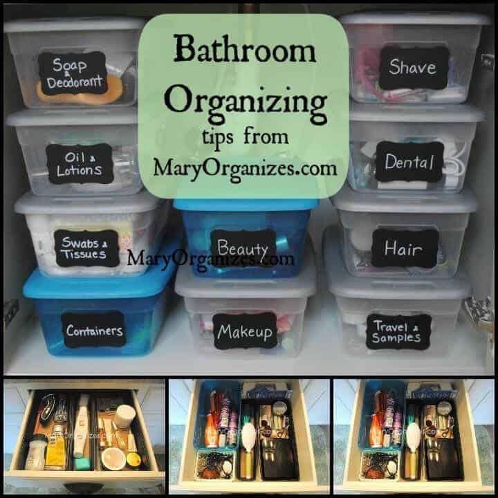 organización de baño principal de bajo costo
