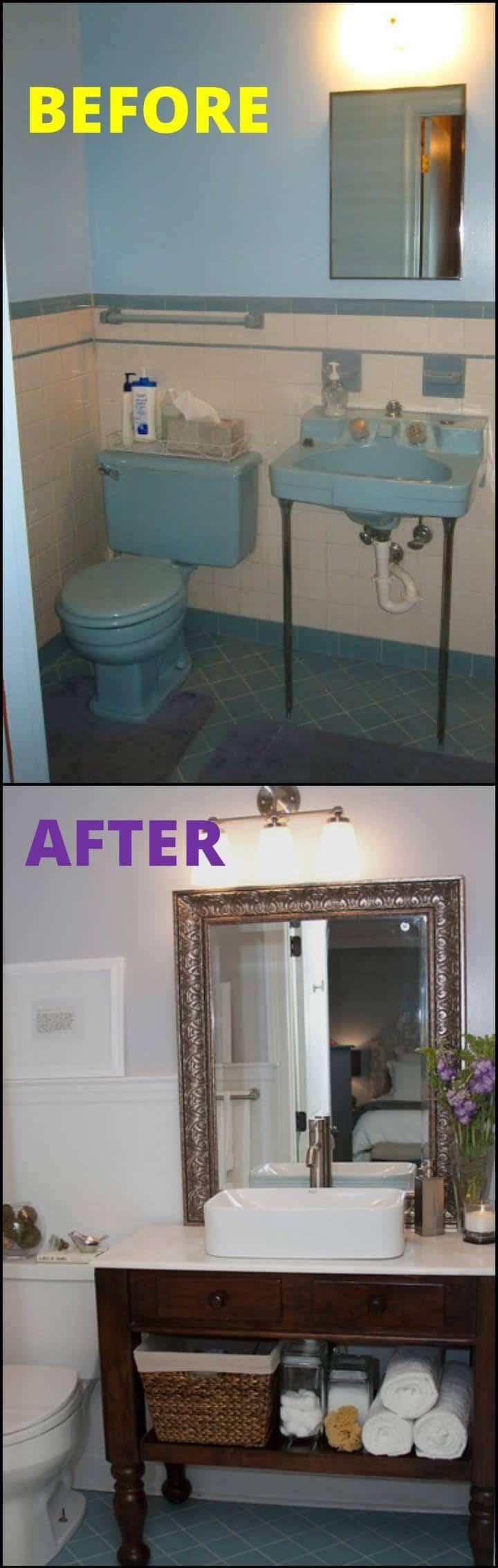remodelación fácil del baño principal