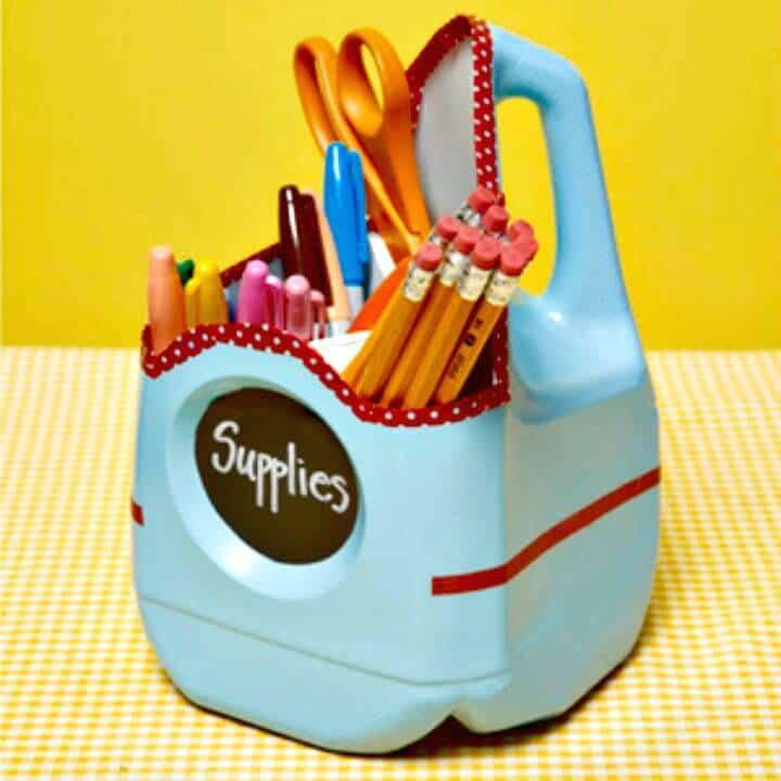 Recipiente de suministros escolares para jarra de leche de bricolaje para almacenamiento