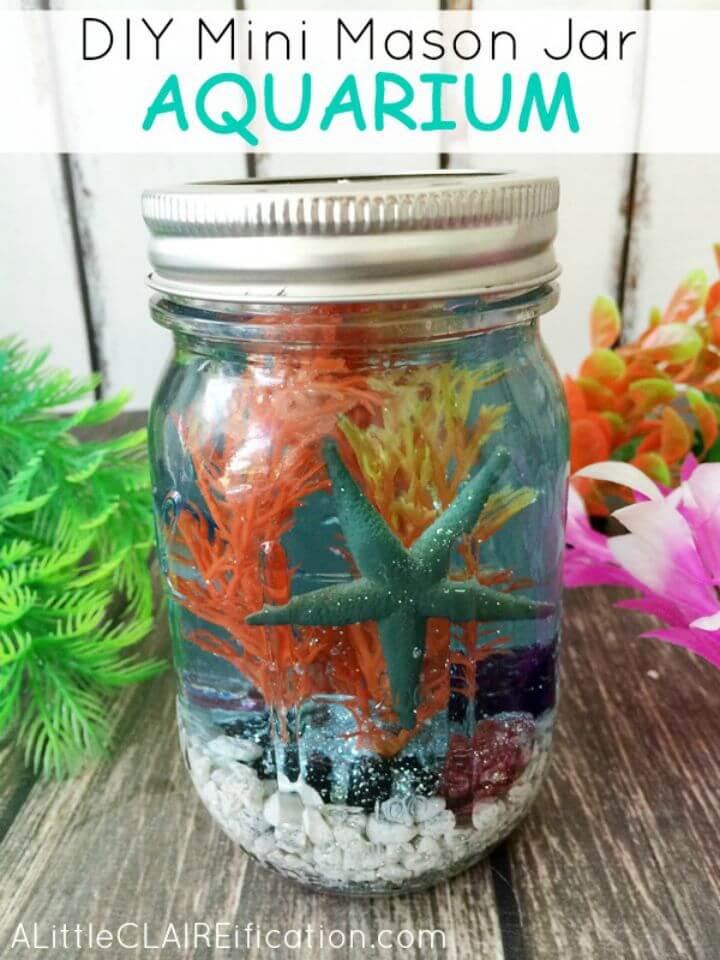 Adorables acuarios DIY Mini Mason Jar