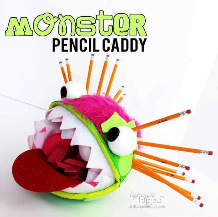 Carrito de lápices monstruo DIY