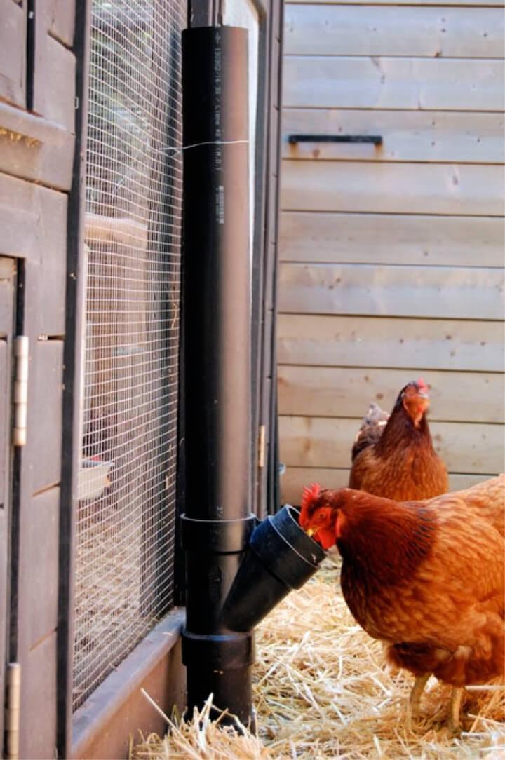 Alimentador de pollo DIY sin derrames