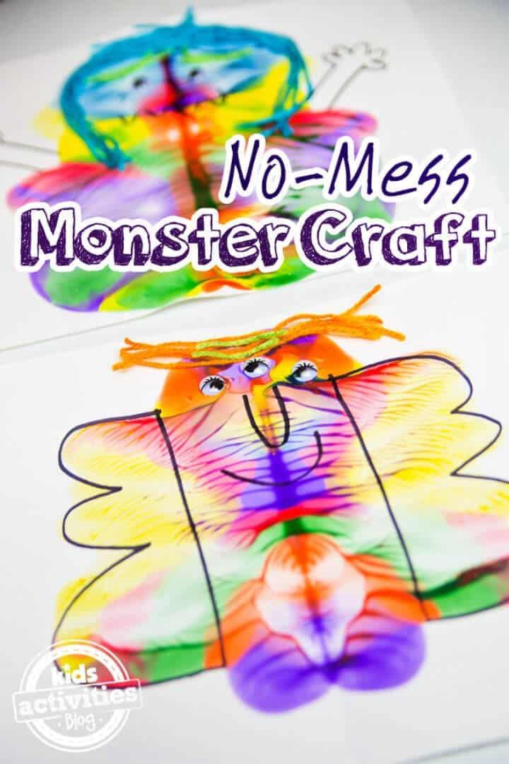 DIY sin ensuciar Monster Craft