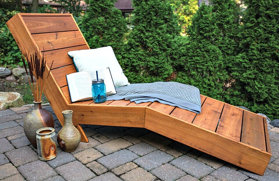 Chaise Lounge de jardín de bricolaje - Ideas de muebles de jardín