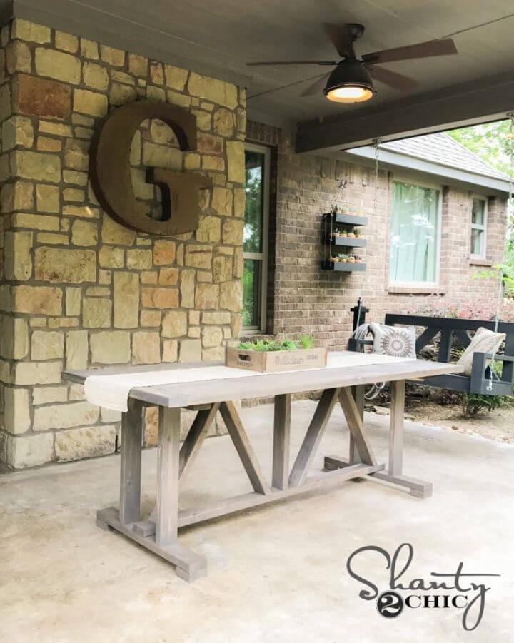 Mesa de comedor al aire libre de bricolaje para menores de 60 años