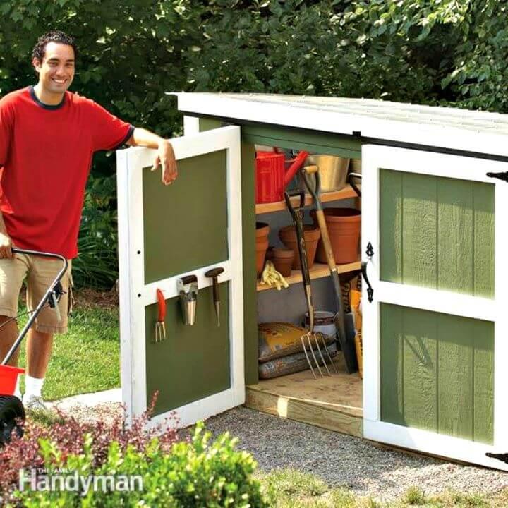 Cobertizo para casilleros de almacenamiento al aire libre de bricolaje - Plan gratuito